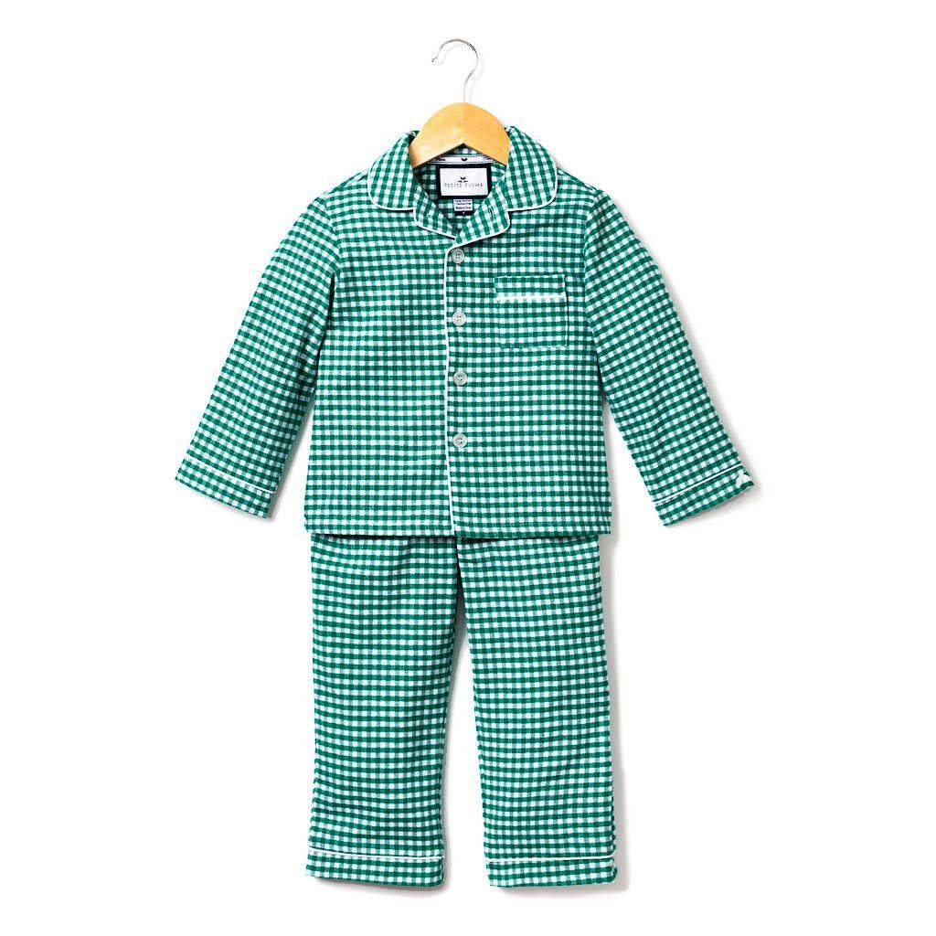 PETITE PLUME Gingham Classic Flannel Pajamas