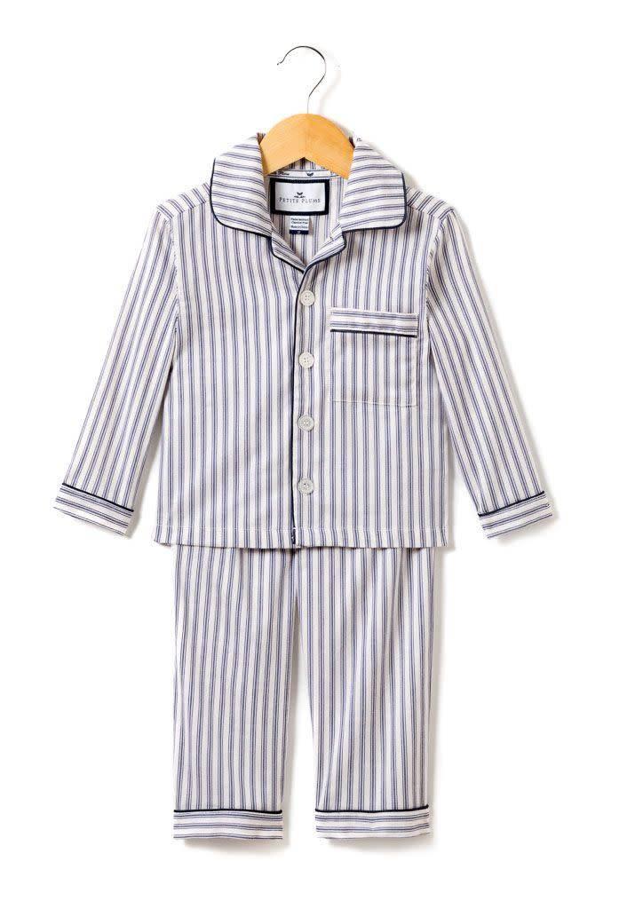 PETITE PLUME French Ticking Pajama Set