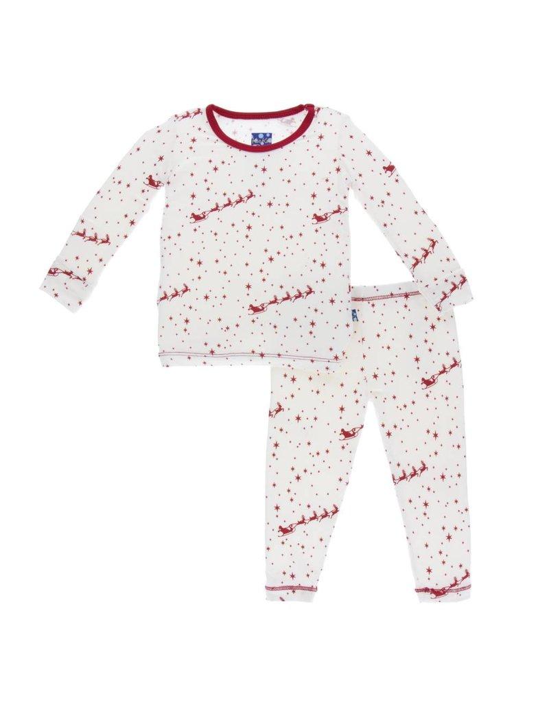 KICKEE PANTS Pring Long Sleeve Pajama Set