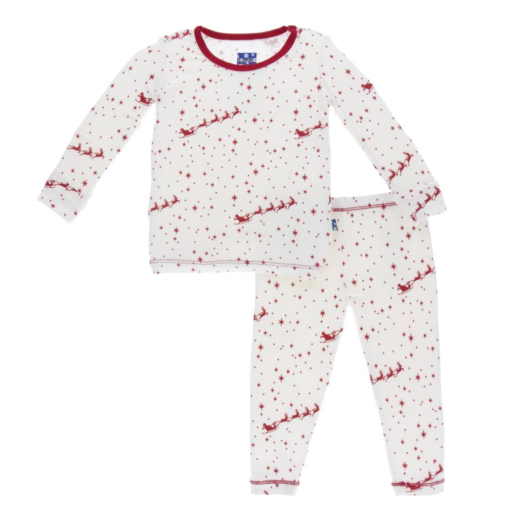 KICKEE PANTS Pring Long Sleeve Pajama Set