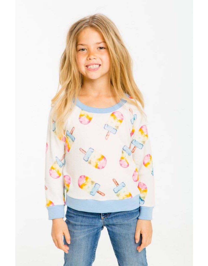 CHASER Painted Popsicles Knit Pullover