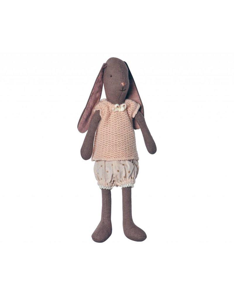 MAILEG Mini Brown Bunny, GIrl