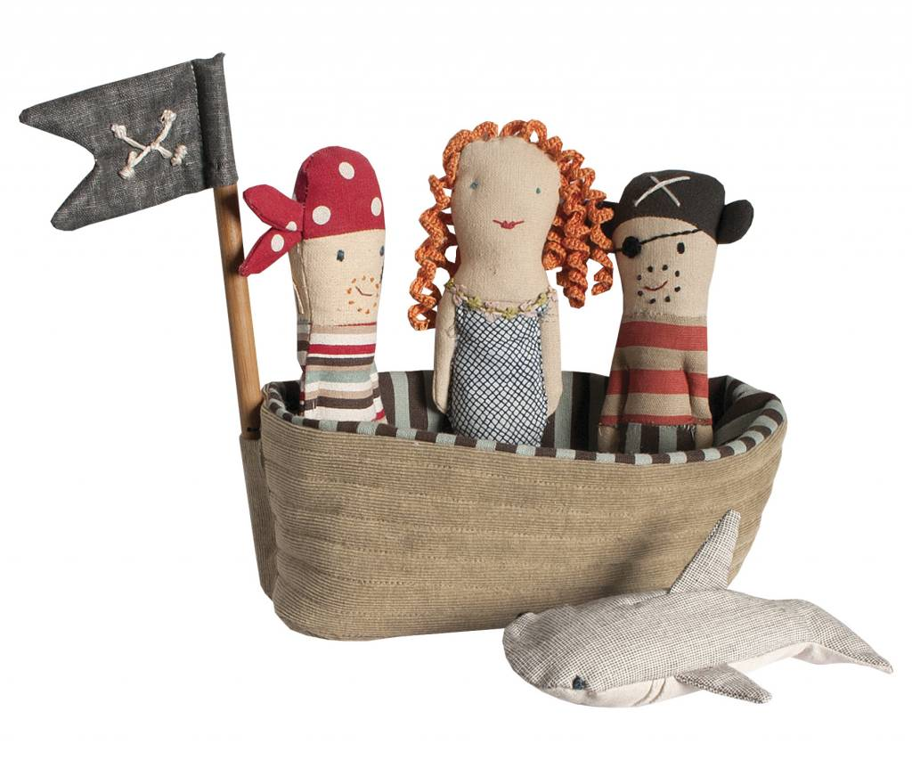 MAILEG Pirate Ship with 4 Rattles