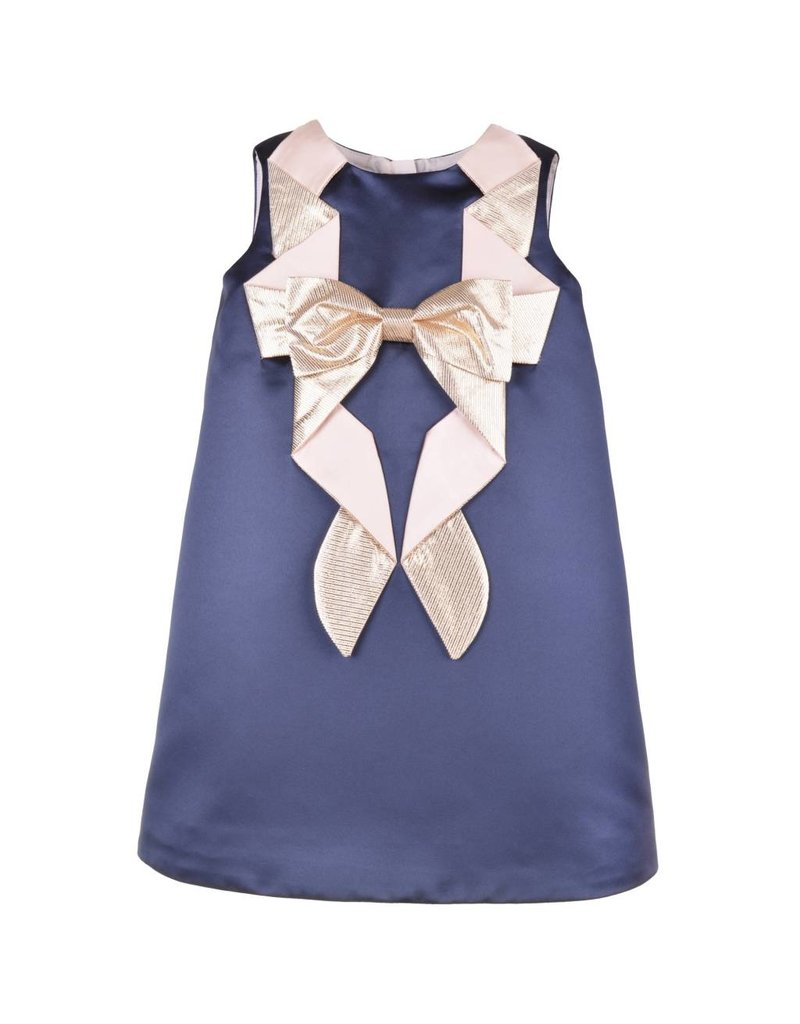 HUCKLEBONES Origami Bow Shift Dress