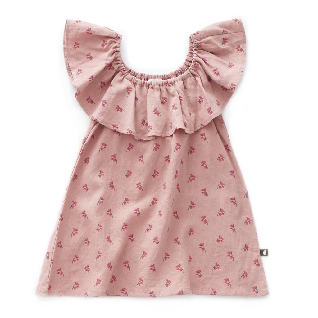 OEUF Ruffle Linen Dress