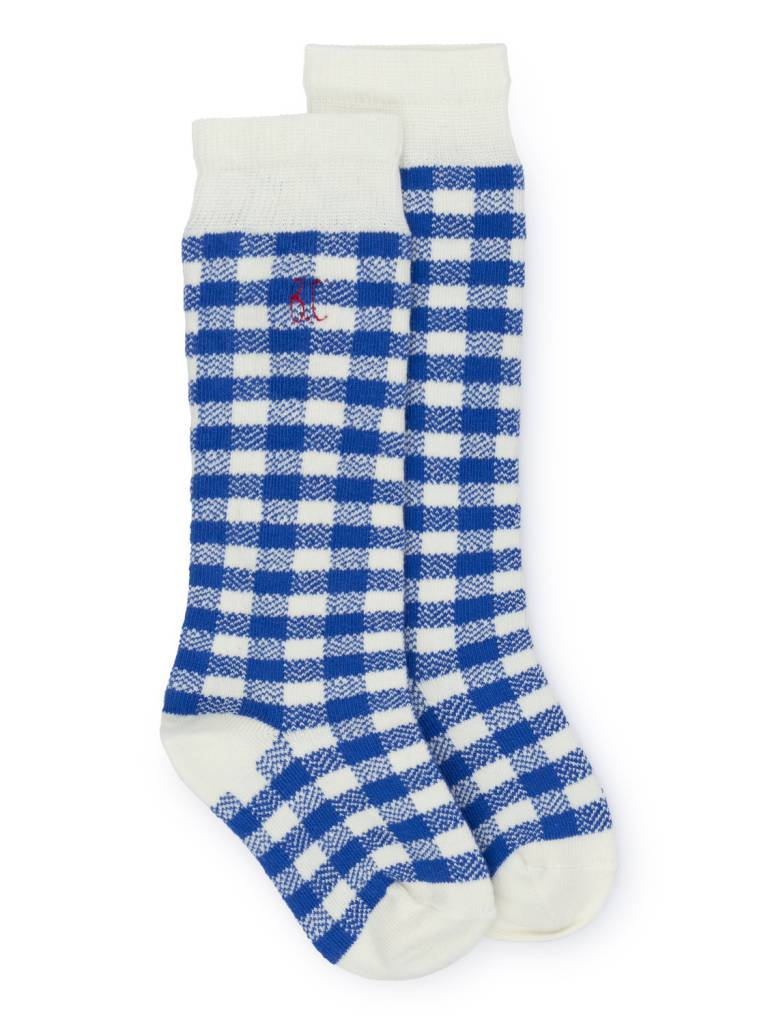 BOBO CHOSES Blue Vichy Socks