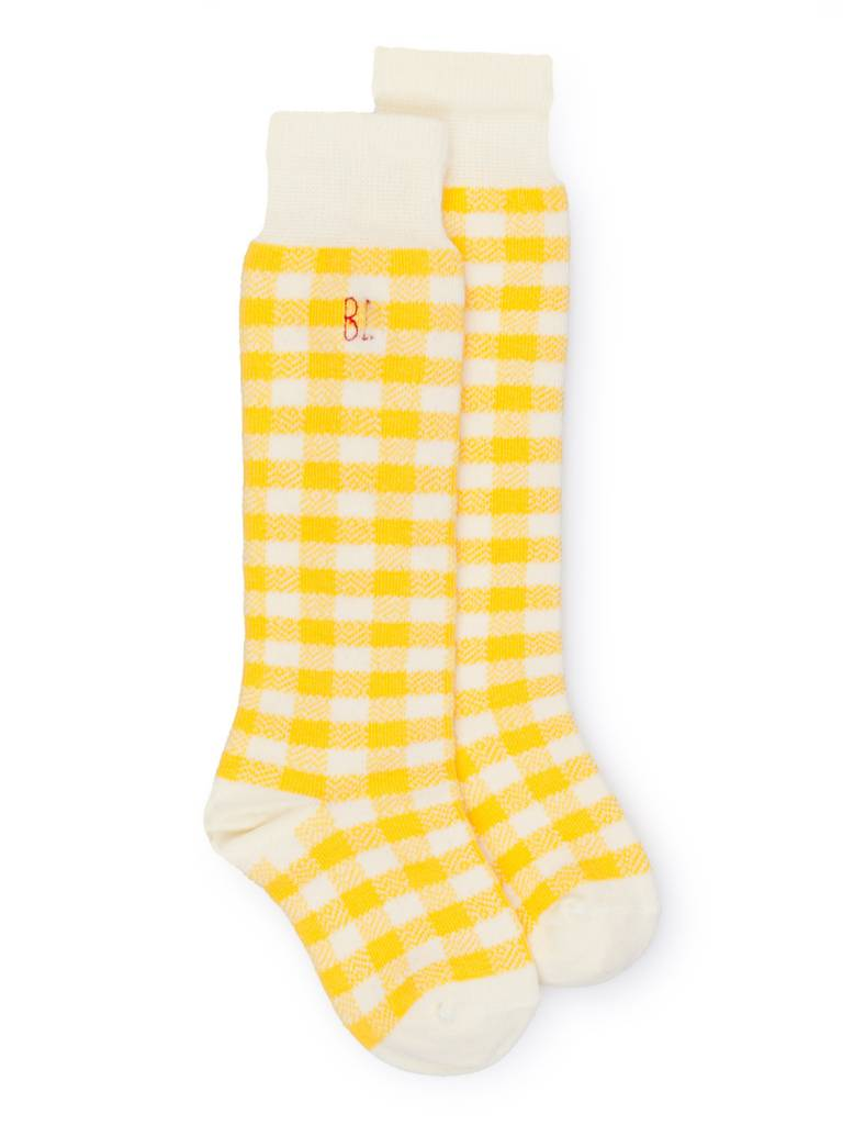 BOBO CHOSES Yellow Vichy Socks