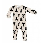 HUX BABY Mouse Zip Romper