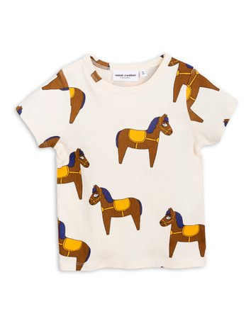 MINI RODINI Horse Short Sleeve Baby Tee