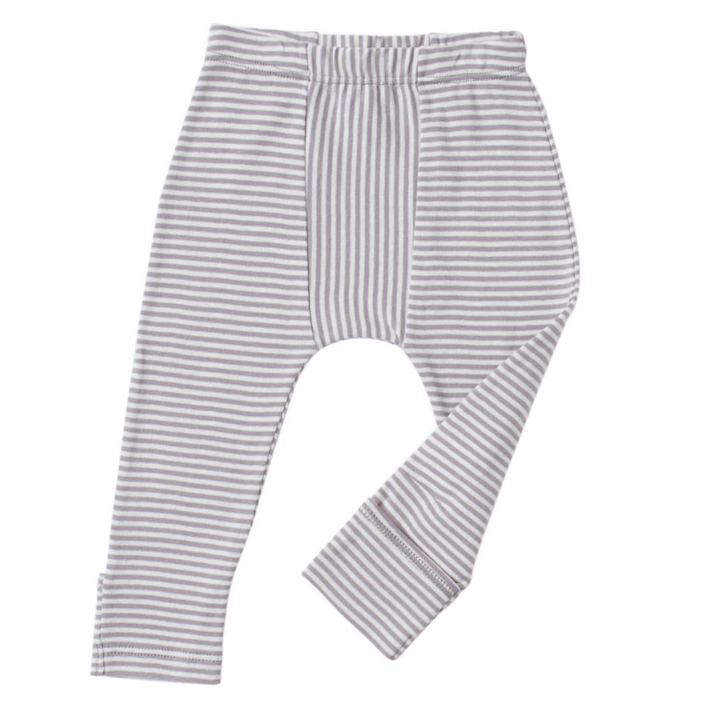 TANE ORGANICS Striped Leggings with Feet Cover