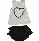 JOAH LOVE Heart Top with Ruffle Bloomers