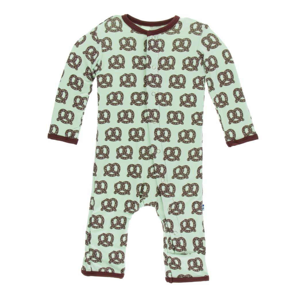 KICKEE PANTS Print Footie with Snaps