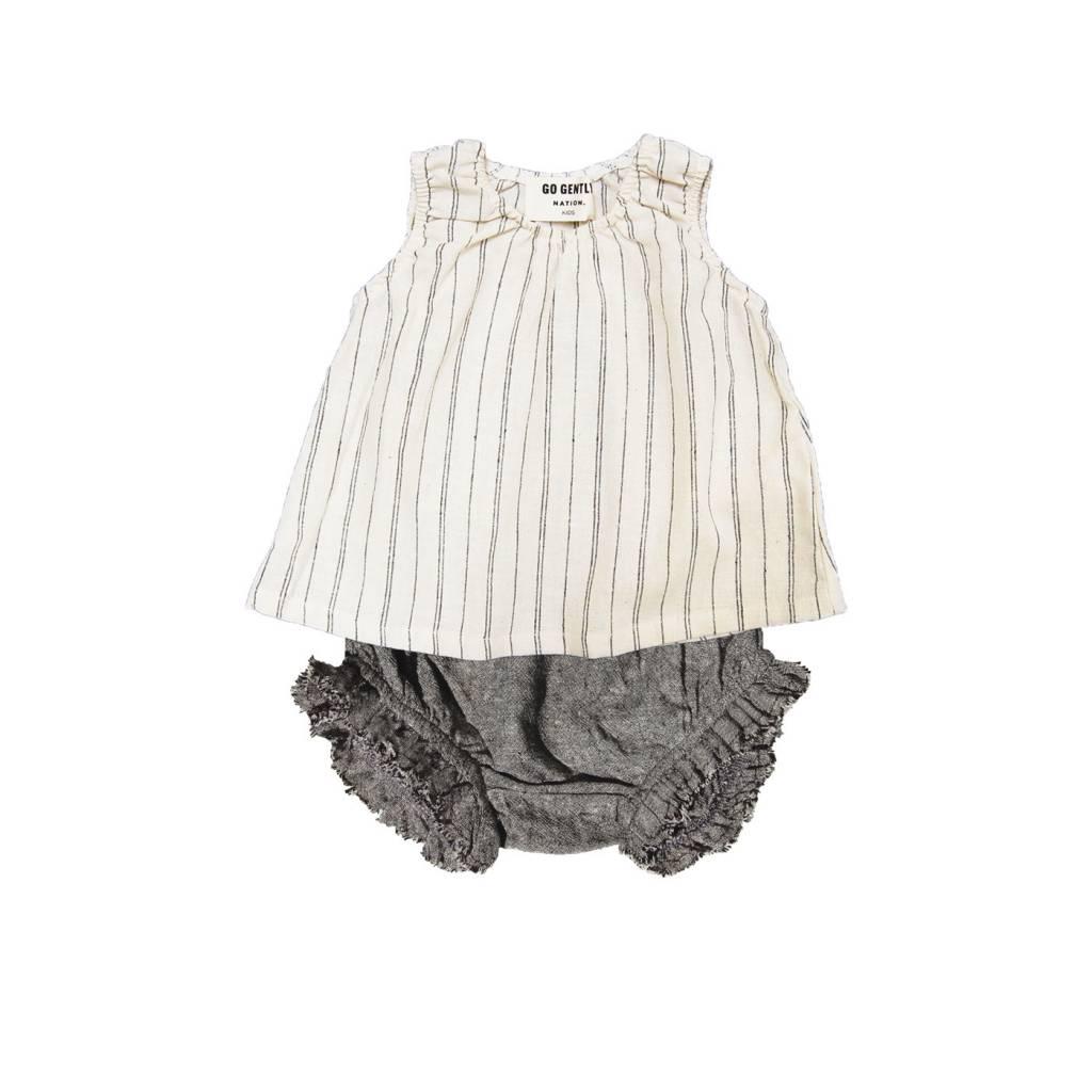 GOGENTLYNATION Woven Stripe Baby Set