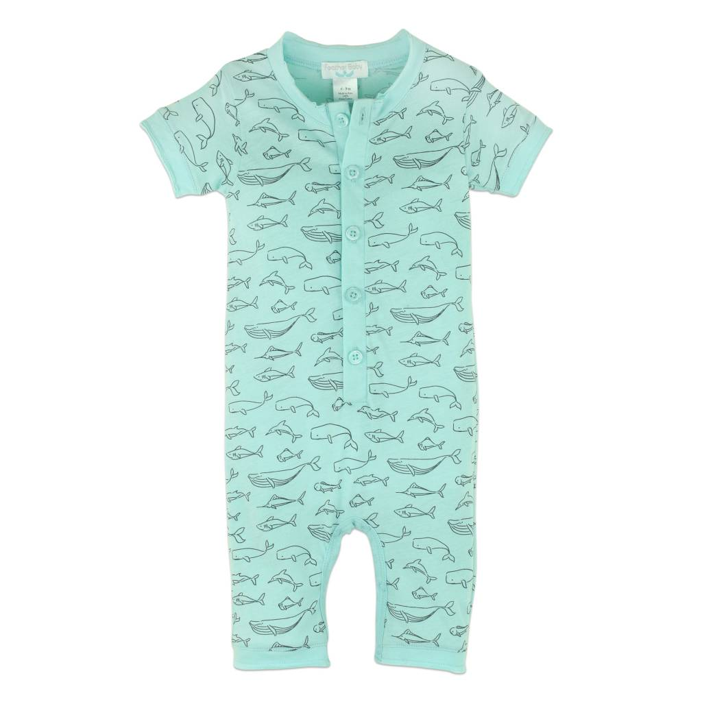 FEATHER BABY Henley Romper