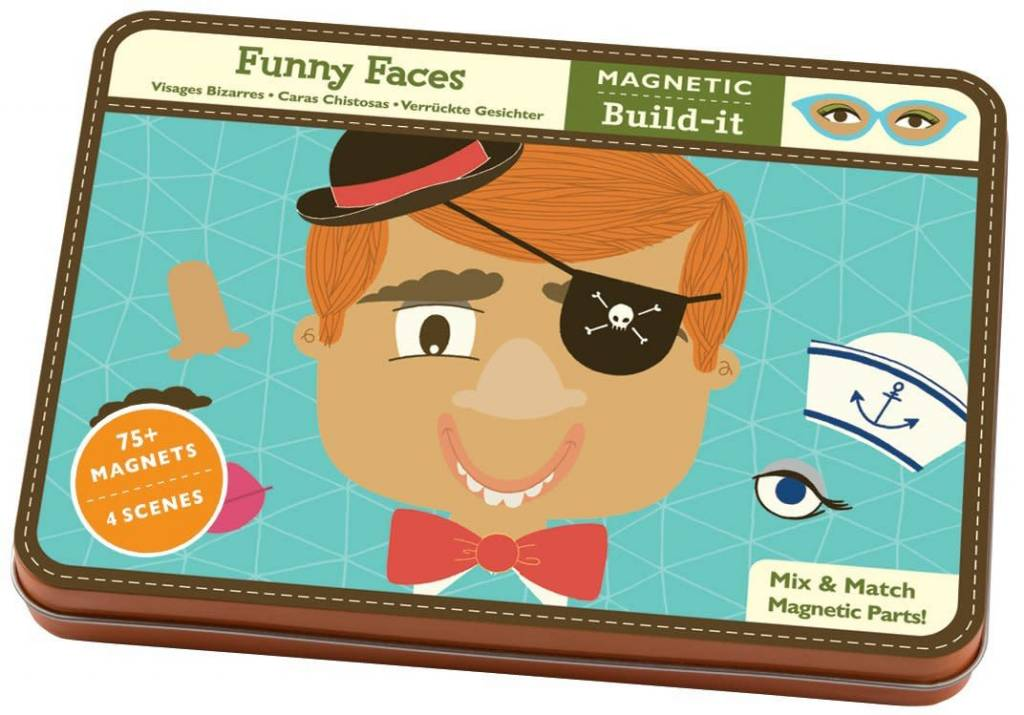MUDPUPPY Funny Faces Magnetic  Build-it