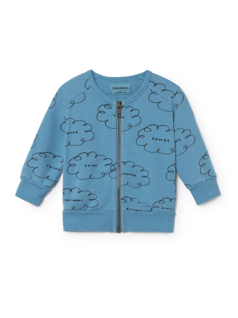 BOBO CHOSES Clouds Zipped Sweatshirt