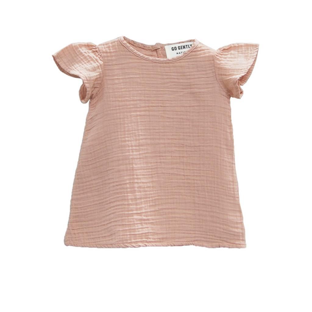 GOGENTLYNATION Baby Gauze Flutter Dress