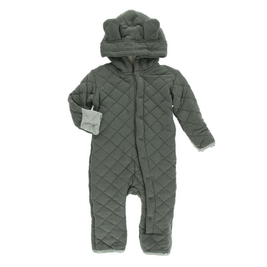 KICKEE PANTS Solid Quilted Hoodie Coverall