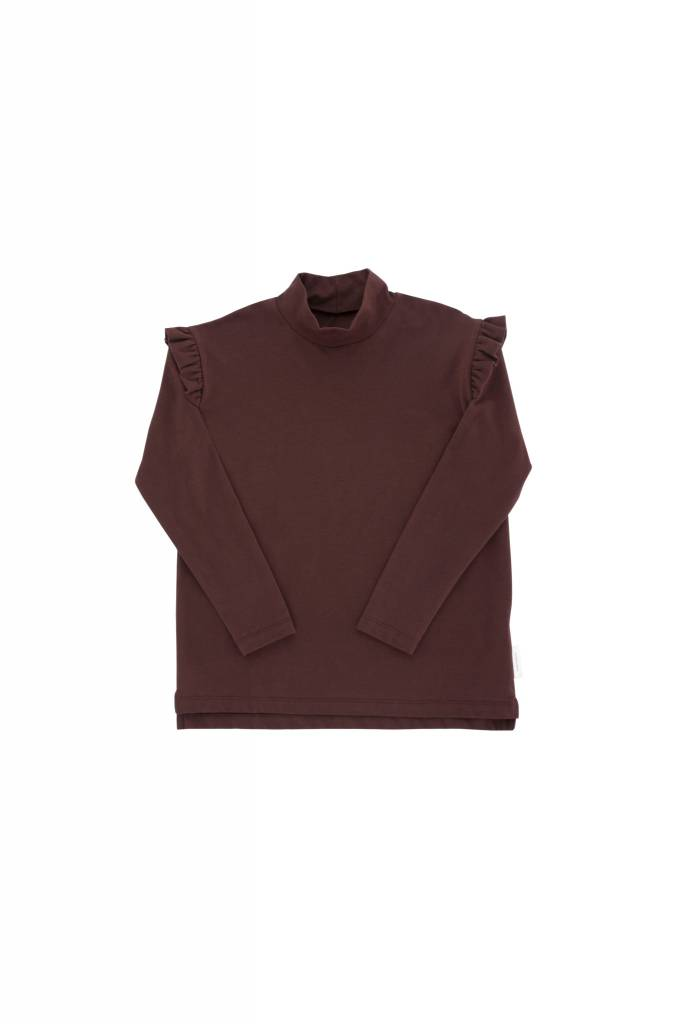 TINY COTTONS Solid Mockneck Tee
