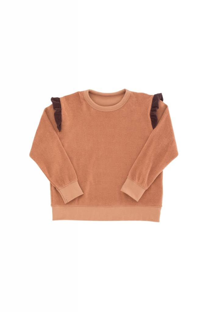 TINY COTTONS Frills Towel Sweatshirt