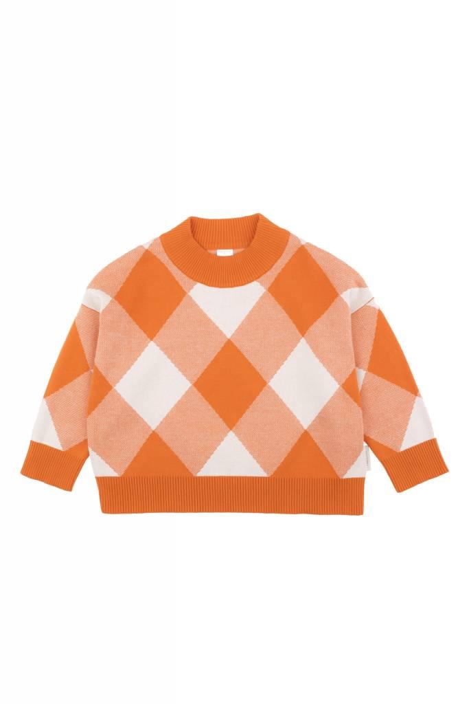 TINY COTTONS Big Check Mock Sweater