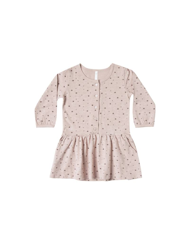 RYLEE AND CRU Mini Stars Button Up Jersey Dress