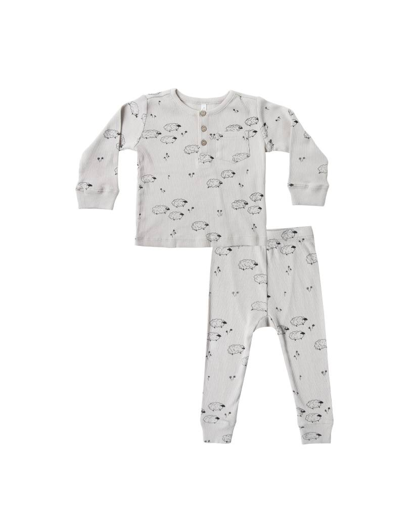 RYLEE AND CRU Sheep Ribbed Pajama Set