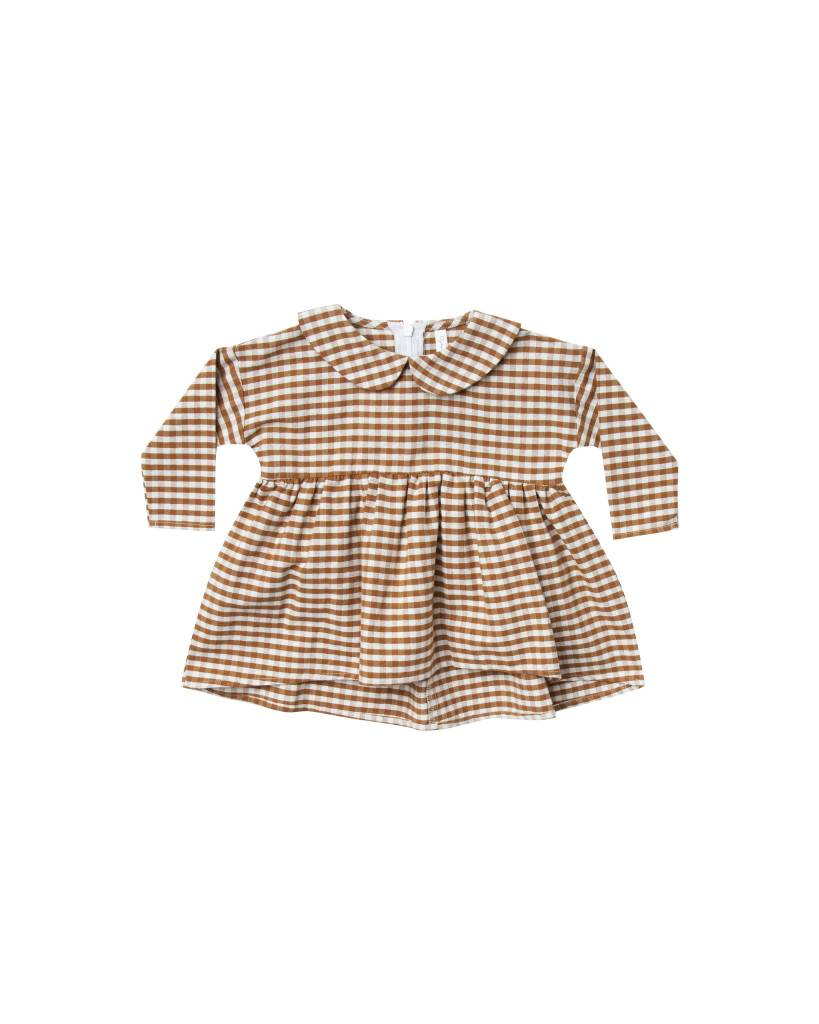 RYLEE AND CRU Baby Gingham Collard Dress