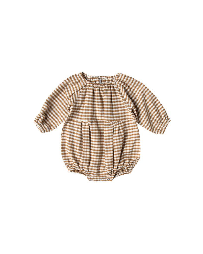 RYLEE AND CRU Gingham Bubble Romper
