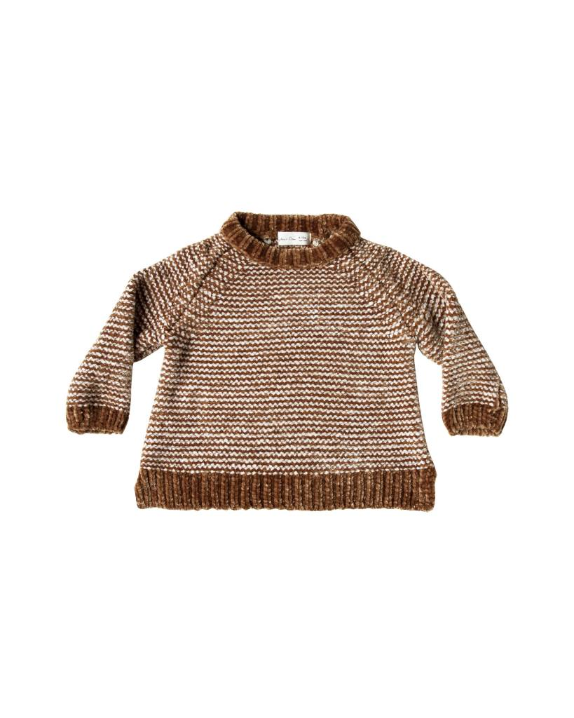 RYLEE AND CRU Striped Chenille Sweater