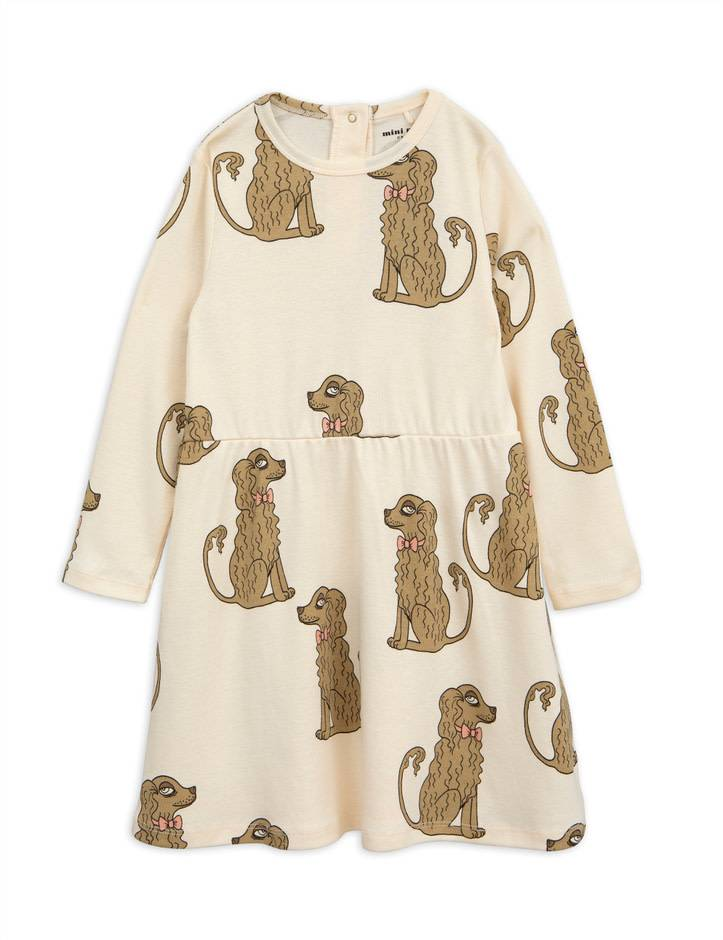MINI RODINI Spaniel Long Sleeve Dress