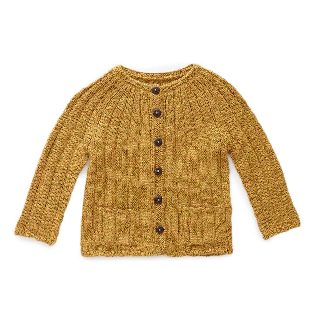 OEUF Baby Ribbed Cardigan