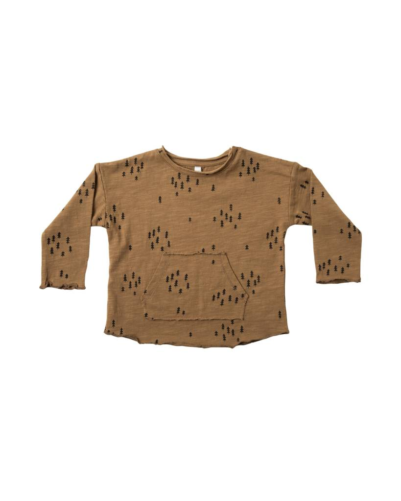 RYLEE AND CRU Evergreen Long Sleeve Pouch Tee