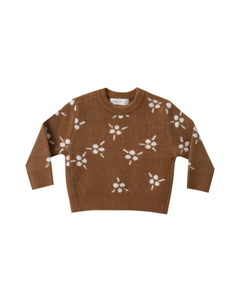 RYLEE AND CRU Baby Berry Jacquard Knit Pullover