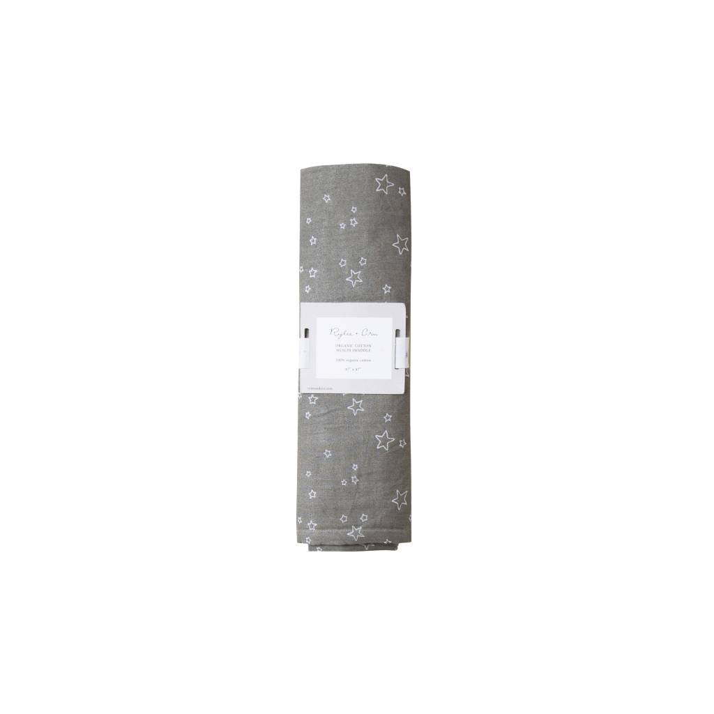 RYLEE AND CRU Organic Swaddle Twinkle