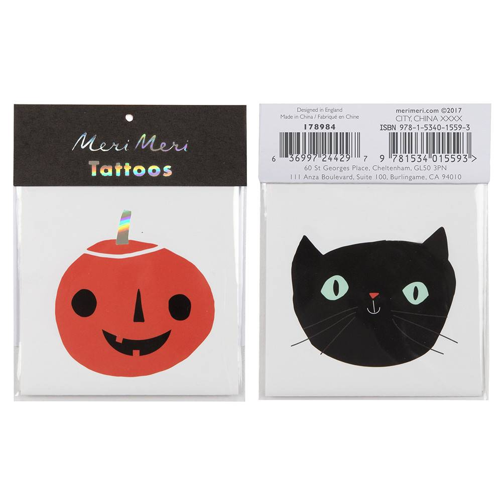 MERI MERI Cat and Pumpkin Tattoos
