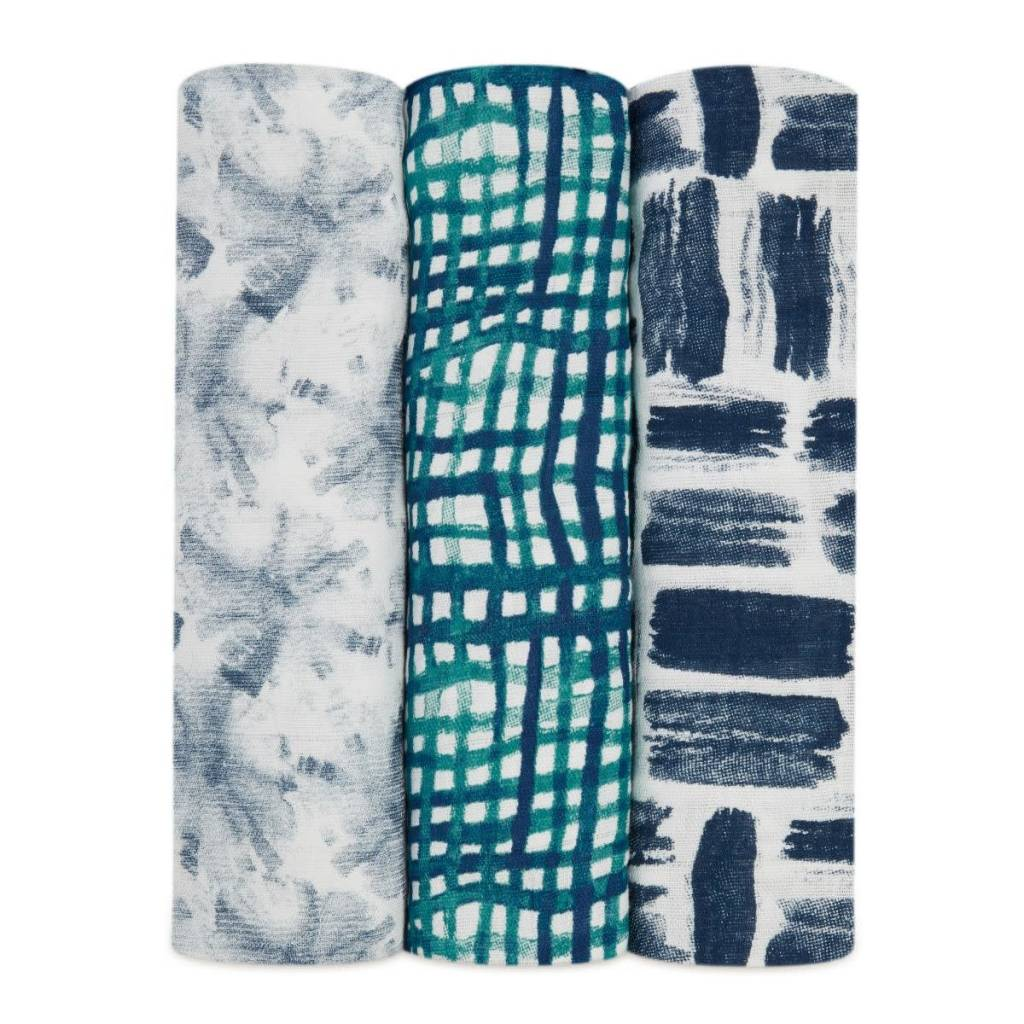 ADEN + ANAIS Seaport 3-Pack Silky Soft Swaddles