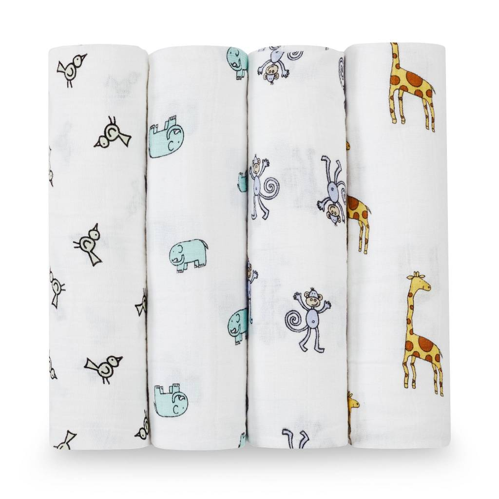 ADEN + ANAIS Jungle Jam 4-Pack Classic Swaddles