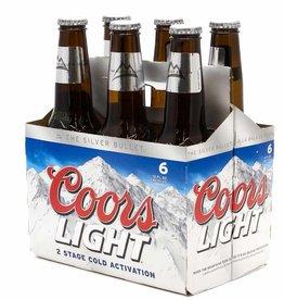 Coors Light Bottles 6pk -12 oz