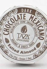 Taza Chocolate Round Salted Almond