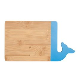 Whale Bamboo Cheese Board with Blue Tail