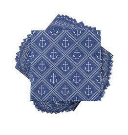 Cocktail Napkins - Anchor Pattern