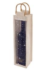 Starry Night Jute Wine Bottle Bag