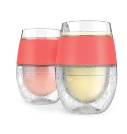 HOST Freeze Cooling Wine Glasses CORAL (Set of 2)