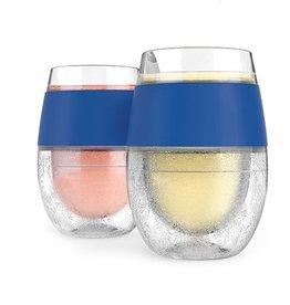 HOST Freeze Cooling Wine Glasses BLUE (Set of 2)