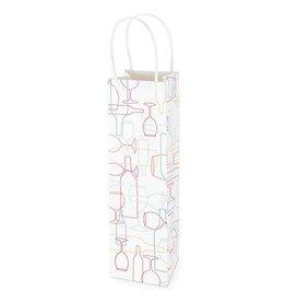 REVEL Kraft Wine Gift Bag - Confetti Bottle Outline