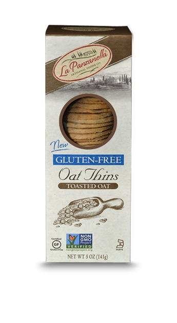 La Panzanella Gluten Free Toasted Oat Thins - 5 oz