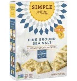 Simple Mills Gluten Free Almond Flour Sea Salt Crackers - 4.25 oz