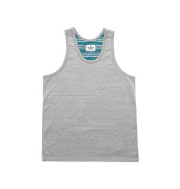 REIGNING CHAMP REIGNING CHAMP STRIPE TERRY REV TANK (HGREY / DK.TARQ)