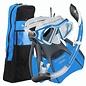 Admiral LX mask, Island Dry LX Snorkel, Trek Fins